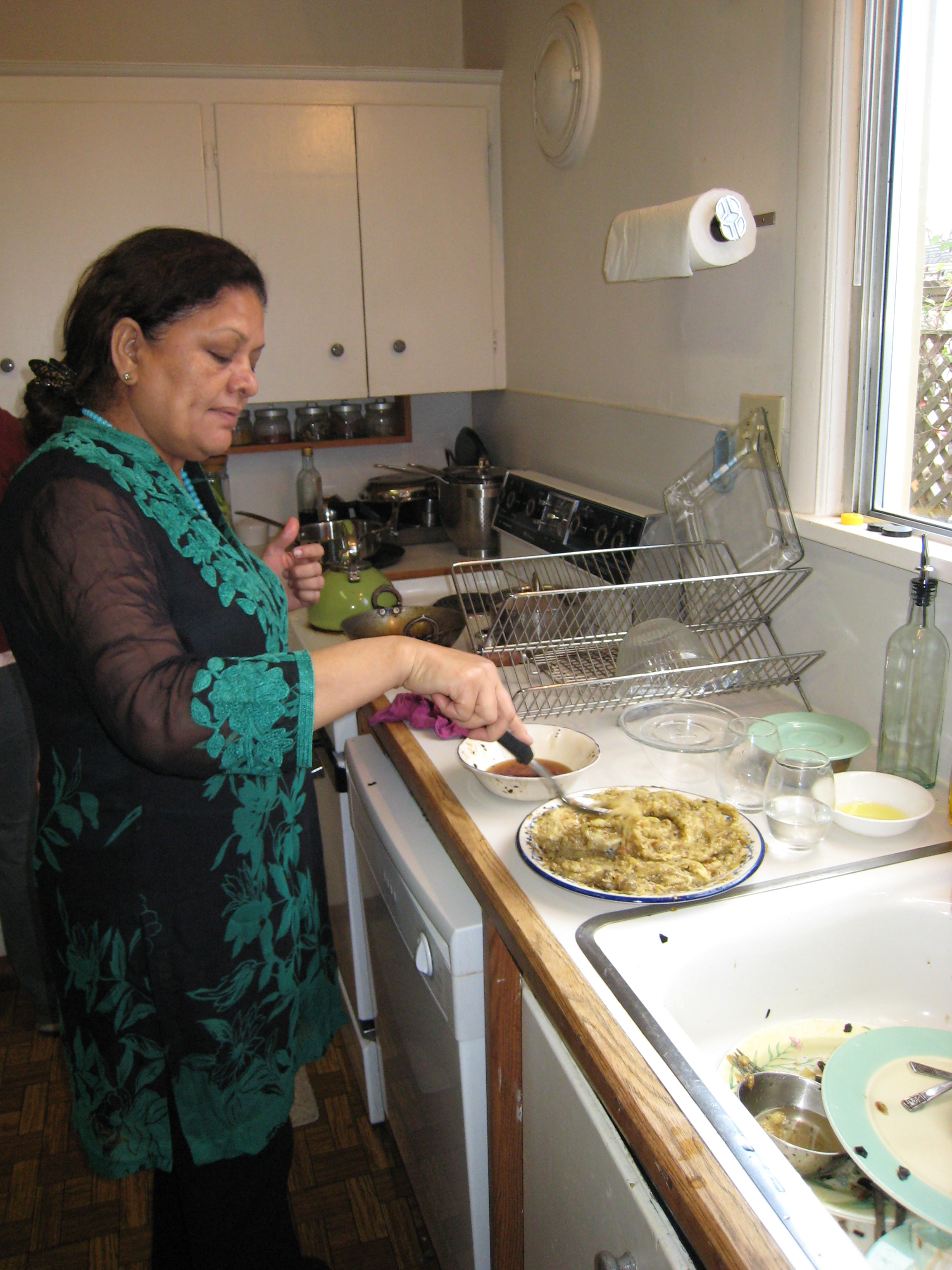 Mom Cooking In Kitchen Viewing Gallery